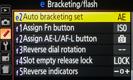 Nikon D5200 AEB Settings Menu