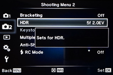 Nikon D700 AEB Settings Menu