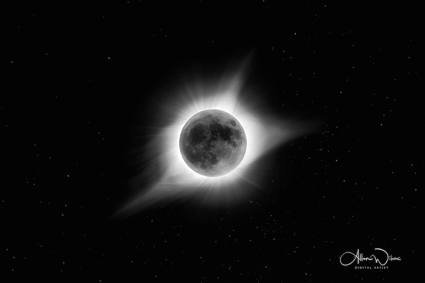 Solar Eclipse 2017 HDR photo