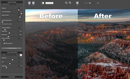 Choose from four HDR styles to get the look you want