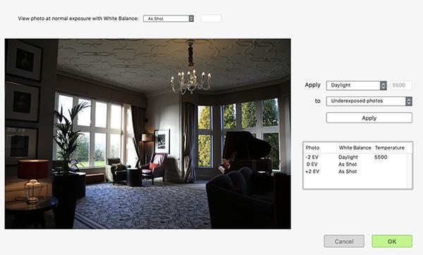 Apply White Balance per Photo in Photomatix Pro
